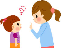 мама ругает ребенка, наказание, отчитывает ребенка